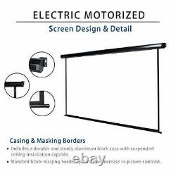120 Motorized Projector Screen Electric Diagonal Automatic Projection 43 HD