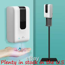 1200ML Electronic Automatic Hands free gel Sanitizer Dispenser with floor Stand