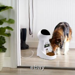 3L Automatic Dog Cat Feeders Timed/Recorder Pet Food Dispenser Meal Programmable