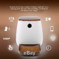 3L Automatic Smart Pet Dog Cat Feeder With HD Wifi Camera ABS Audio Remote