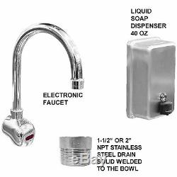 4 Multi Users 80 Hand Sink Automatic Electronic Faucet Hands Free Made In USA