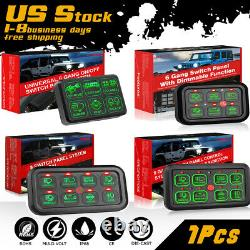 6/8 Gang LED Switch Panel Electronic Relay System Control Car Boat Marine 12V