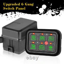 6-Gang Switch Panel Automatic Dimmable Electronic Relay Circuit Control System