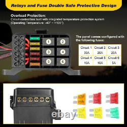 6-Gang Switch Panel Electronic Relay Circuit Control System WithAutomatic Dimmable