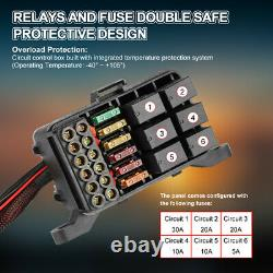 6Gang Switch Panel Relay WithAutomatic Dimmable Electronic Circuit Control Box 12V