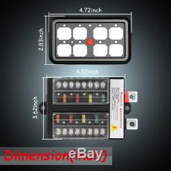 8Gang Switch Panel Relay Electronic Circuit Control Box WithAutomatic Dimmable 12V
