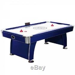 Air Hockey Table w Electronic Scoring + Dual Output Blowers + Automatic Return