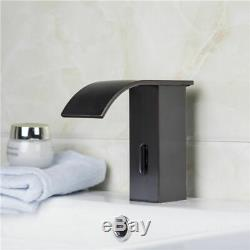 Antique Black Waterfall Taps Electronic Automatic Sensor Single Hole Bath Faucet
