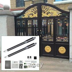 Automatic DC24V Dual Arm Electronic Swing Gate Opener 660lb Moter operator 300MM