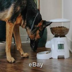 Automatic Pet Feeder Dog Cat Programmable Animal Food Bowl Timed Auto Feed NEW
