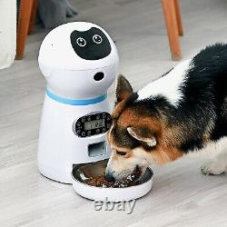 Automatic Pet Feeder Timed Feeding Station Food Bowls for Dogs Travel Supply