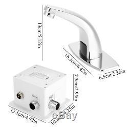 Bathroom Auto Electronic Sensor Touchless Faucet Hands Free Vessel Sink Tap F