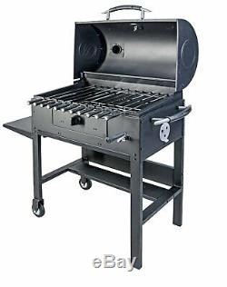 Blackstone 3-in-1 Kabob Charcoal Grill Barbecue Smoker With Automatic Rotisserie