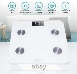 Bluetooth Body Fat Weight Scale 400 lb Electronic Smart Fitness Analyzer APP