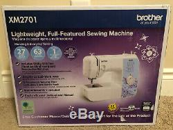 Brother XM2701 Lightweight Sewing Machine 27 Stitches Automatic Buttonhole White