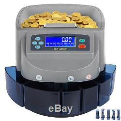 Commercial Automatic Electronic Digital US Coin Sorter Change Counter Fast Sort