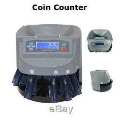 Commercial Electronic Coin Counter Sorter Pennies Through Dollar Coins Automatic