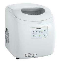 Danby Electronic Ice Maker White Freestanding Self-Clean Function LED Display