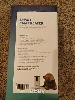 Dogness Smart Cam Treater Automatic Pet Treat Dispenser with HD Camera, Black