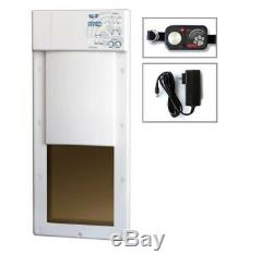 Electric Pet Door Power Pet Large Electronic Fully Automatic Dog Cat Up to 100lb