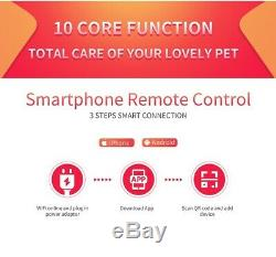 Electronic automatic pet feeder wifi with camera remote mobile app battery opera