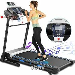 Folding Treadmill, 3.25HP Electric Motorized Automatic Incline Running With/APP