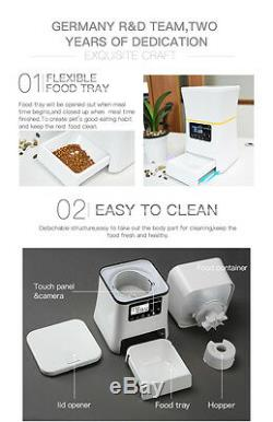 NEW Automatic Pet Feeder Dog Cat Food Control Iphone Android Smart Program Auto