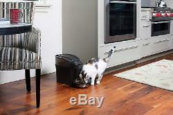 NEW Healthy Pet Automatic Small Cat Dog Dry Food Feeder Stainless Steel Bowl