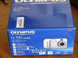 NEW Olympus D-595 5MP Digital Camera with 3x Optical Zoom Silver D595