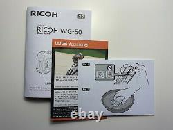 NEW! RICOH WG-50 Fully Automatic Compact Digital Camera Black with case