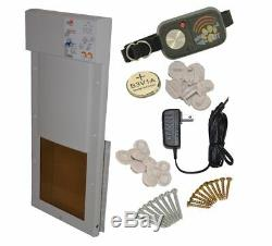 Never Used Power Pet Px-2 Electronic Automatic Pet Dog Door Large High Tech Pet