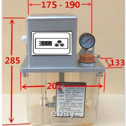 New 220V 2L Auto Lubrication Pump CNC Electronic Timer LCD Automatic Oiler 6mm