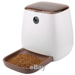 Pet Dog Puppy Cat Electric Automatic Food Feeder Smart Remote App With Camera UK