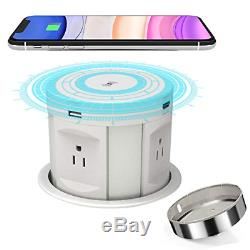 Pop Up Socket Desk Recessed Power Strip, Kitchen Counter Automatic Pop Up Outlet