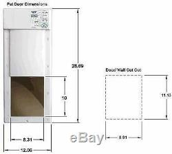 Power Pet PX-1 Medium Electronic Automatic Pet Door NEW IN FACTORY SEALED BOX
