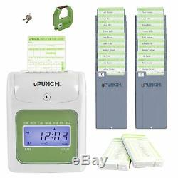 Punch Time Machine Clock Electronic Employee Automatic Work Hours Bundle New