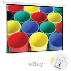 Pyle 72 Motorized Projector Screen, Electronic Automatic Display