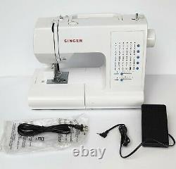 SINGER 7462 Fully Electronic Sewing Machine Free Arm Decorative Stitches Button