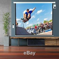 Sound Around Pyle 100 Motorized Projector Screen, Electronic Automatic Display