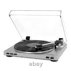 Victrola Pro Semi-Automatic Record Player with 2-Speed Turntable, Vinyl to MP3