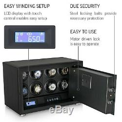 Watch Winder Electronic Security Safe for Automatic Watches For 8 Watches