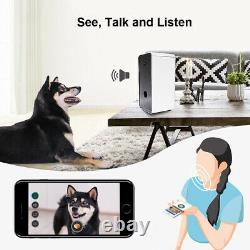 WiFi Smart Automatic Pet Feeder with Camera Cat Dog Food Dispenser Programmable
